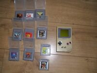 Game boy console with 11 games