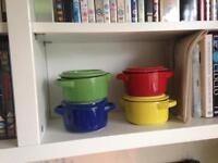 Tiny stoneware pots