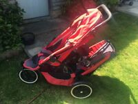 Phil and Teds double pushchair with newborn insert
