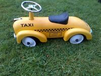 cute metal ride-on car for kids in NY Taxi design
