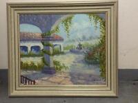 Ölbild mit Rahmen, handsigniert Peter Arnoux, B*H 75cm*65cm Hessen - Eschborn Vorschau