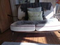 Ercol two seater sofa new webbing
