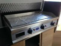 ACE BRAND NEW HEAVY DUTY LPG GAS 3 BURNER GRIDDLE