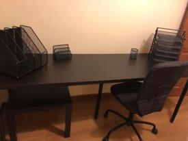 Bureau desk ikea ps white birch veneer with birch veneer