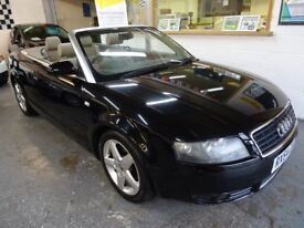 2004 AUDI A4 CABRIOLET 3.0 AUTOMATIC, SPORT CABRIOLET 2DOOR, FULL SERVICE HISTORY,DRIVES LIKE NEW