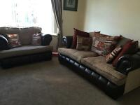 Scs Chesterfield 3 seater sofa and 2 seater love chair