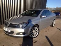 2007 Vauxhall Astra Twin Top 1.9 Cdti 150 BHP Design, 2 Keys, Service History, Finance Available