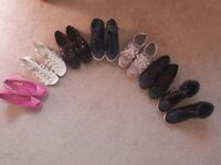 shoes 7 items size 6/7
