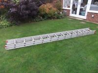 aluminium double extendable 3.5m ladders