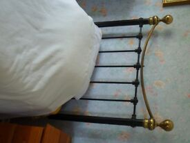 Pair of Reproduction Victorian Brass and Metal Single headboards