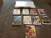 Wii board + games for sale