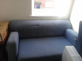 Blue Sofabed Bargain Very Comfortable