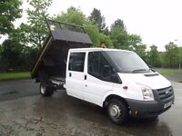 Dec 2011 ford transit crew cab tipper uk one mot jan 2018 only £7250 open a every weekend