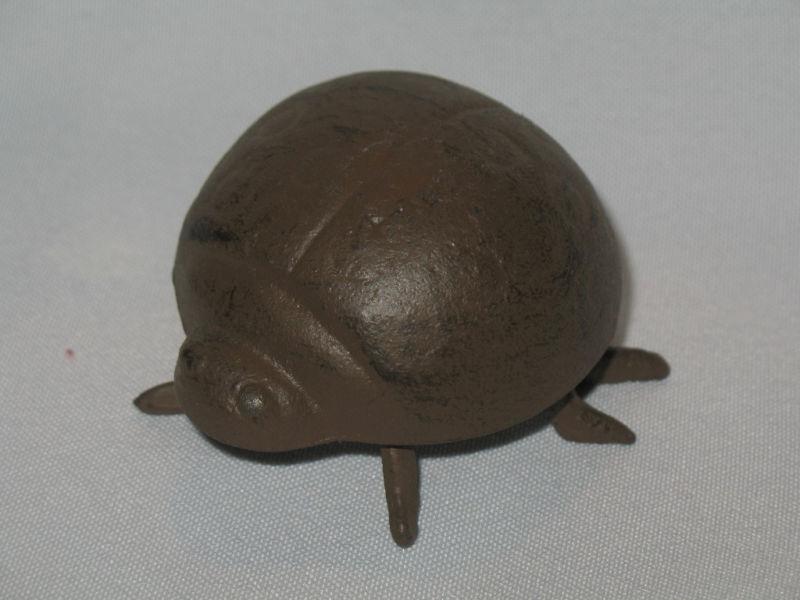 Casted Metal Ladybug Figurine Ladybug Yard Ornament Paperweight Ladybug
