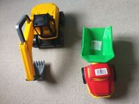 Dumper Truck, Digger and Monster Truck