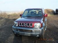 Suzuki Jimny JLX+ 2007 (57), Red and Grey, Mileage 106182, MOT'd end July 2019 red and grey.
