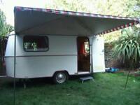 Vintage Eriba Triton 3 berth caravan