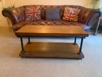 Bespoke Coffee table or tv stand solid wood hand made industrials style rustic