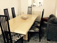 Lovely Marble Dining Table & 6 Rennie Mac style Chairs £249