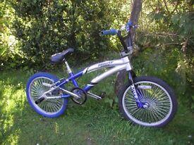 vertical gravity bmx,10 in alloy frame 360 bars,tidy bike,