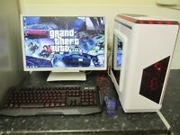 """★New Build Intel Quadcore Gaming Pc With 22"""" HD Monitor/New Peripherals★"""
