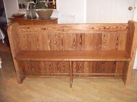 """Church pew - pitch pine. 63""""x 34""""x 17"""". Lovely grain, no woodworm."""