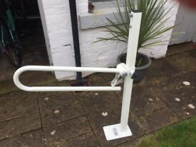 Brand new support rail. Useful for side of bed or loo. Never been fitted.