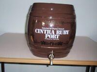 Ex Pub Display Ceramic Port Barrel (empty)