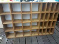 Large wooden shelving unit