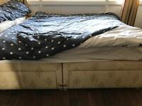 Divan Double Bed with 4 Drawers