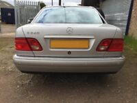 Silver Mercedes E240 Avantgarde Saloon For Sale. 1 Owner from New. Full Leather. MOT until April 18