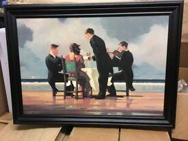 Jack Vettriano - Elegy for The Dead Admiral - Framed Digital Canvas - 84 cm x 61 cm