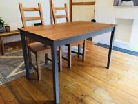 Dining table and 2 dining chairs