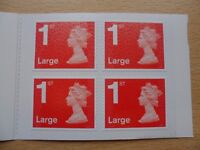 7 books of 4x 1st Class Large Letter Royal Mail Self-Adhesive Stamps