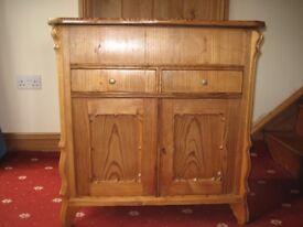 Pine Washstand, Cupboard - Victorian