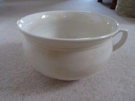 Vintage Large Cream Glazed Ceramic BERWICK WARE CHAMBER / PLANT POT