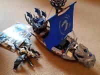 Mega Bloks dragons metal ages ship