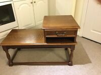 Oak Telephone Table with seat