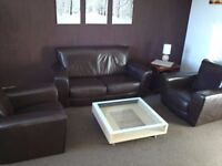 2 seater sofa + 2 armchairs (can deliver)