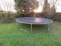 large trampoline 12ft across two very small holes in mat £75 ono