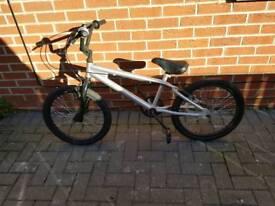 Silver bmx bike