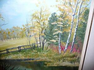"L. M. Spears ""Country Scene"" Oil Painting Stratford Kitchener Area image 10"