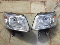 VW Genuine Transporter/ Camper T5 Front Headlights, 2003-2009