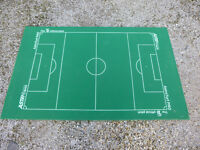 Subbuteo pitch with wooden backing board