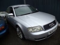 2002 Audi A6 1.9 TDI Diesel 4 Door Saloon in Silver Colour with mileage 205K
