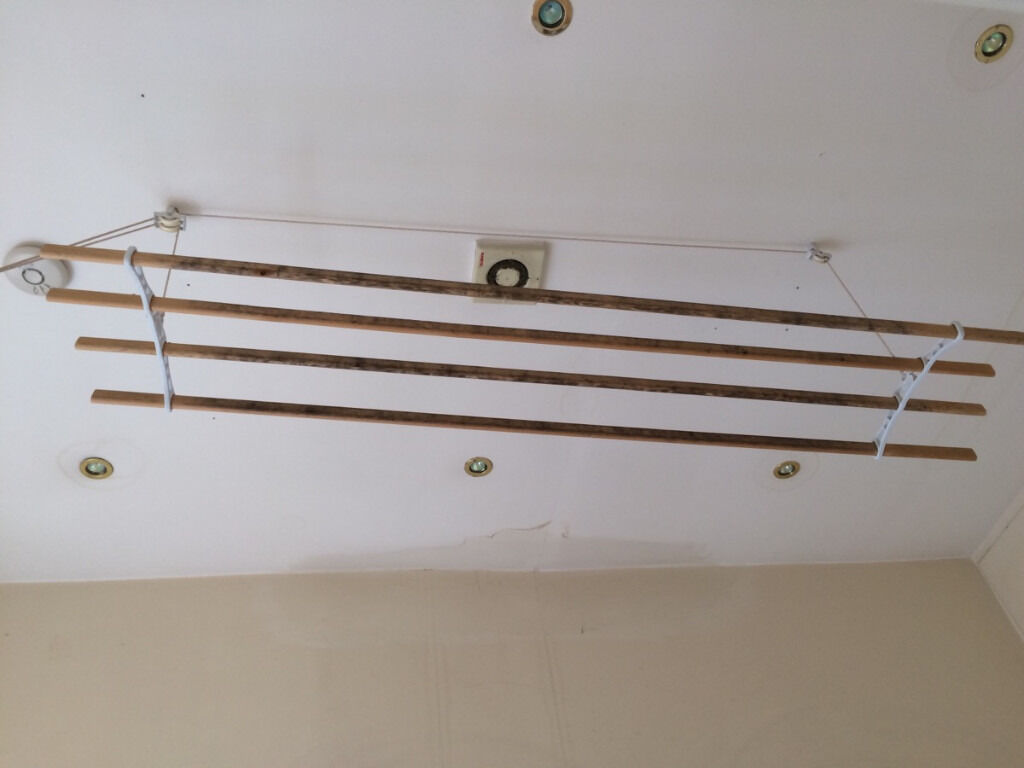 Airer Wooden Traditional Kitchen Maid 174 Pulley Clothes