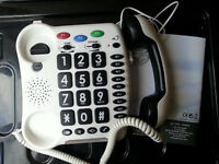 Big Button corded telephone Geemarc CL100 Excellent condition