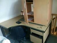 Corner desk .Large.+Cabinet