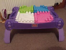 Mega blocks table (purple)