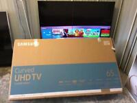 "Samsung 65"" Curved 4k Ultra HD Smart HDR tv ue65ku6500"